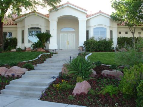 easy front yard landscaping in las vegas taylormade landscapes