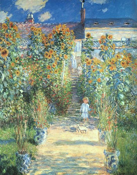 the most famous paintings claude monet the artist garden at vetheuil painting