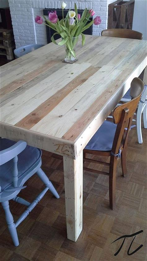 Pallet Dining Table Diy Diy Pallet Dining Table Pallet Furniture Diy