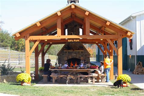 timber patio designs cypress pavilion rustic patio nashville by