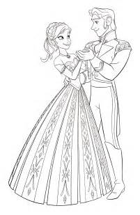 Walt Disney Coloring Pages  Princess Anna &amp Prince Hans Westerguard sketch template