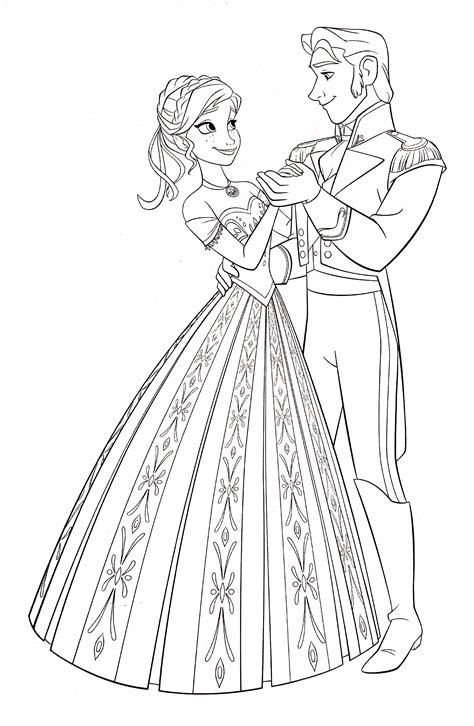 random princess coloring pages walt disney coloring pages princess anna prince hans