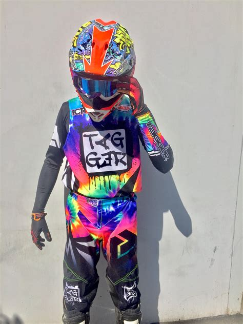 motocross gear sets tagger designs quot tye dye quot motocross gear set custom