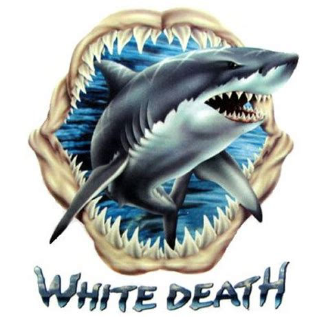 great white shark tattoo designs great white shark eater jaws predator t shirt ws101 ebay