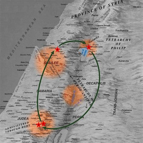 bethany jerusalem map galilee because he lives