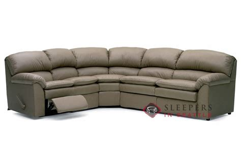 leather sectional with recliner and sleeper palliser pembina reclining true sectional leather sleeper