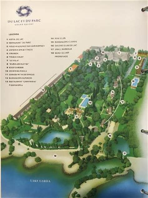 map and key of the hotel grounds picture of du lac et du