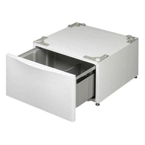 Front Loader Pedestal lg white 14 inch front loading washer dryer pedestal with drawer 13068793 overstock