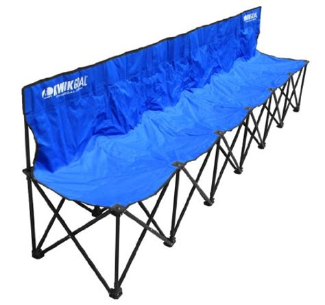 collapsible soccer bench kwik bench 6 seat chair cing folding outdoor hiking