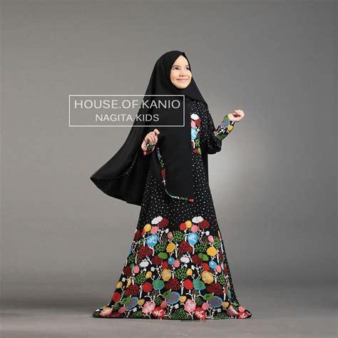 nagita black baju muslim gamis modern