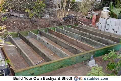 Best Way To Level Ground For Shed by Build Shed Foundation Icreatables