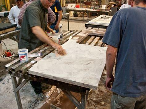 Concrete Countertop Slurry by Make A Pressed Concrete Countertop Cheng Concrete