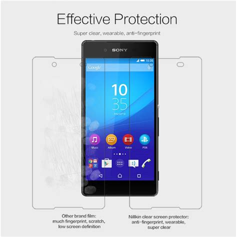 Nillkin Sony Xperia Z3 Clear Screen Protector Berkualitas sony xperia z3 clear nillkin screen protector