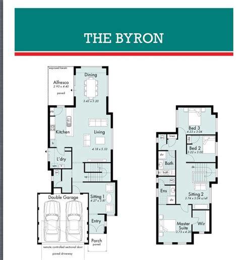 byron narrow block house designs   house design floor plans house plans