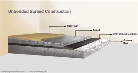 Screed Construction   O. C. Floor Screeding
