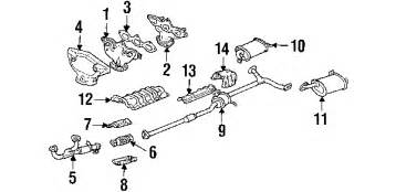 2001 Honda Accord Exhaust System Parts 2001 Honda Accord Parts Discount Factory Oem Honda