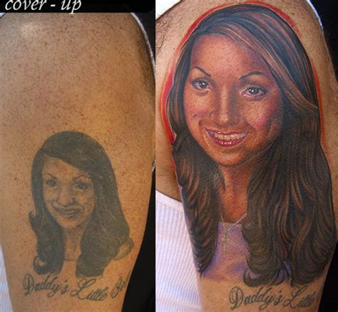 tattoo cover up portrait portrait cover up tattoo by mike devries tattoos