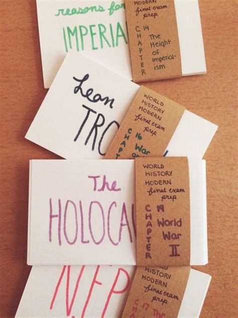 make study cards cluster note cards by topic class test to make