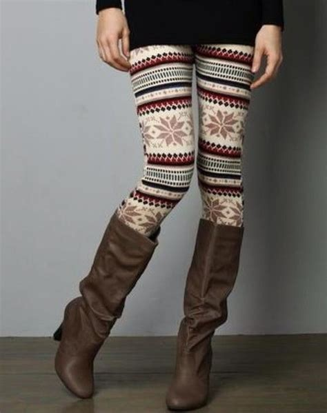 warm patterned leggings leggings fall outfits winter outfits pattern patterned