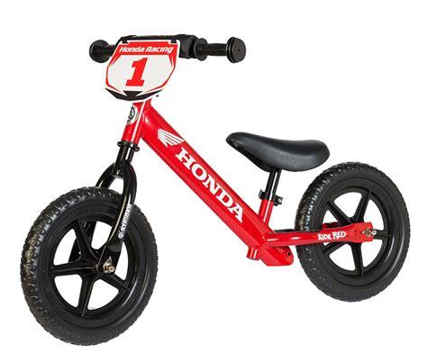 motocross pedal bike strider sport honda no pedal balance bike bto sports