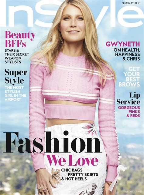 On Cover Of In Style by Gwyneth Paltrow Instyle February Cover Story Instyle