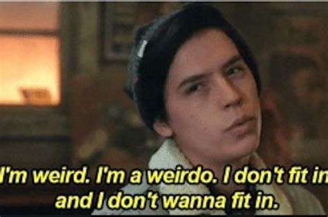 Weirdo Meme - cole sprouse has seen the quot riverdale quot i m a weirdo meme