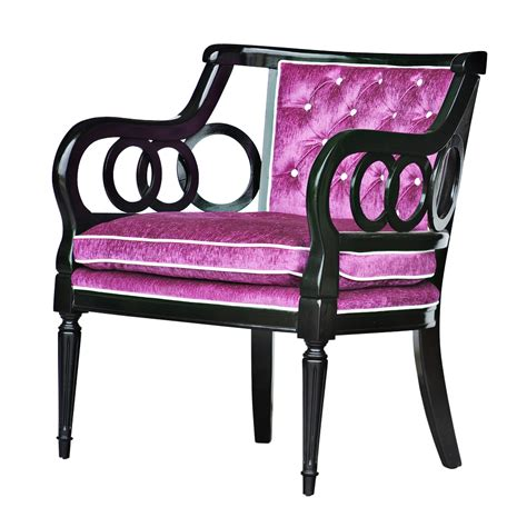 Purple Arm Chair by Purple Tufted Arm Chair Ebay