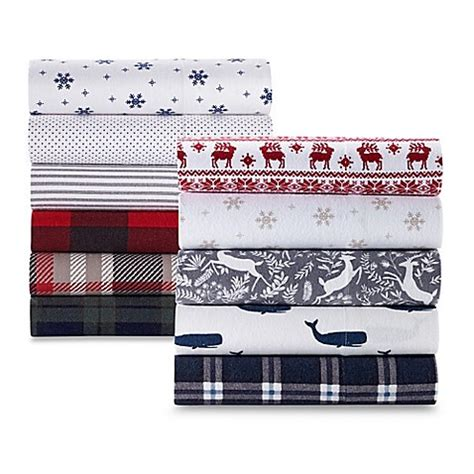 bed bath and beyond flannel sheets the seasons collection 174 heavyweight flannel pattern sheet