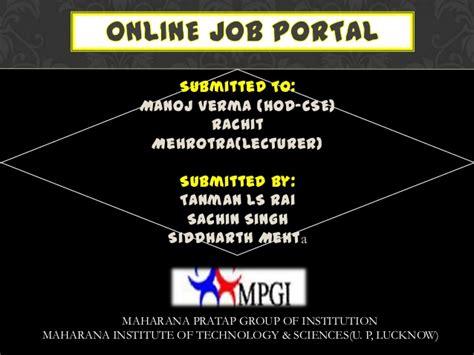design online job portal java online job portal presentation