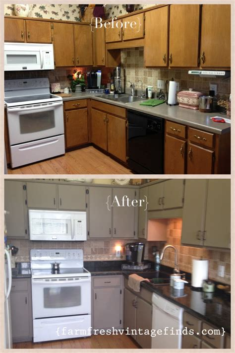 annie sloan kitchen cabinets before and after kitchen cabinet reveal farm fresh vintage finds