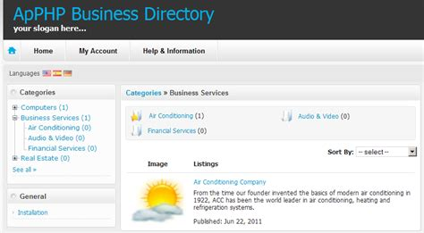 business directory templates php business directory script screenshots apphp