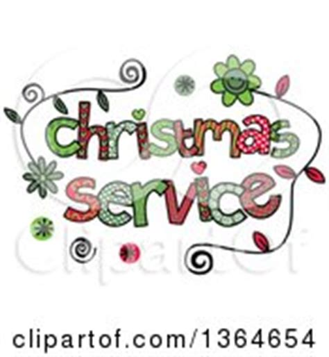 blue christmas service clipart clipart of colorful sketched dinner word royalty free vector illustration by