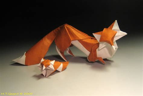 Origami Fox Advanced - links sparrow cp fox diagrams new vog and joas