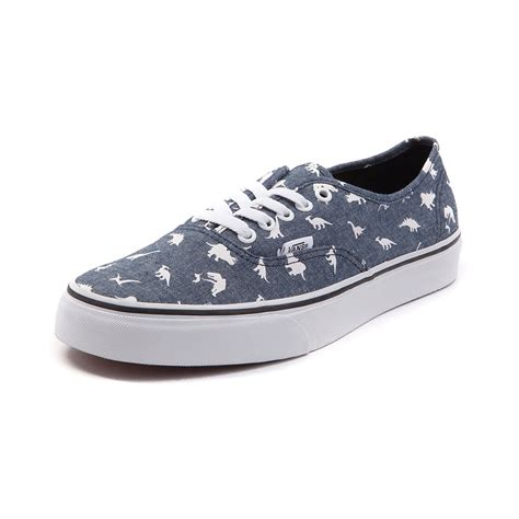 To Be Shoes by Vans Authentic Chambray Dinos Skate Shoe Blue 497101