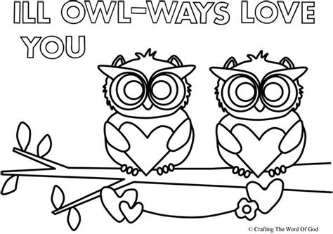 valentine owl coloring page 33 best images about valentines day crafts on pinterest