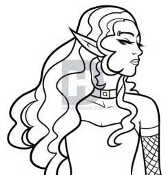 drawing gothic elf step step elves fantasy free drawing tutorial added dawn