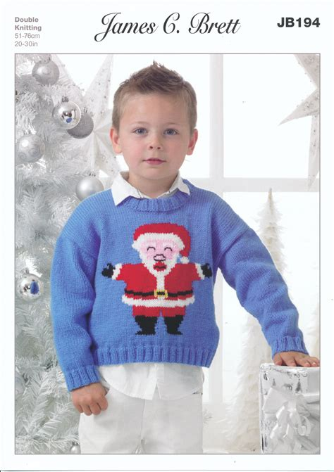 knitting pattern xmas jumper james brett double knitting pattern kids christmas santa