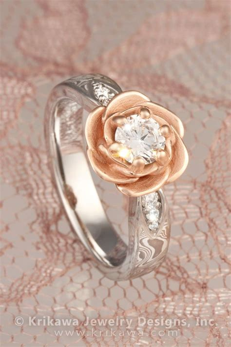 17 best ideas about flower engagement rings on