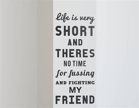 life   short quote wall sticker contemporary
