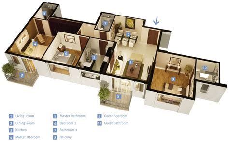 3 Bedroom Apartment House Plans Home Decor And Design 3 Bedroom Apartments
