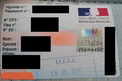 resident permit carte de sejour  france