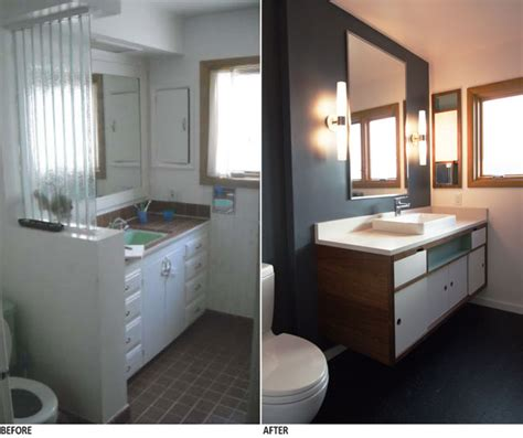 midcentury modern remodel bathroom remodel in dolph park brings a fresh infusion of