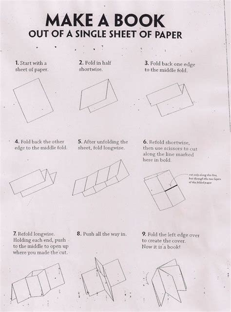 How To Fold A Sheet Of Paper Into A - 39 best images about one type of book with many names and