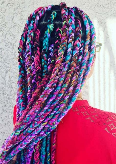 braid yarn into hair 42 best big jumbo braids styles with images beautified