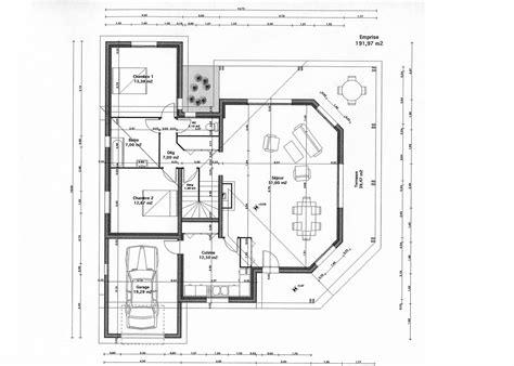 Plan De Maison Design by Plan Maison Moderne Gratuit Tunisie