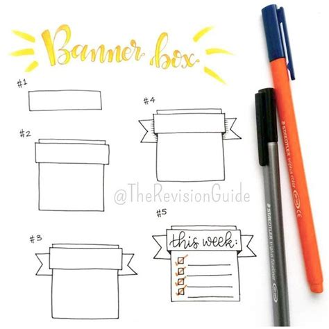 doodle drawing boxes how to draw banners therevisionguide howto add these