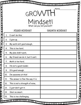 Use This Worksheet Following A Growth Mindset Lesson As Independent Work Partner Group Work Growth Mindset Template