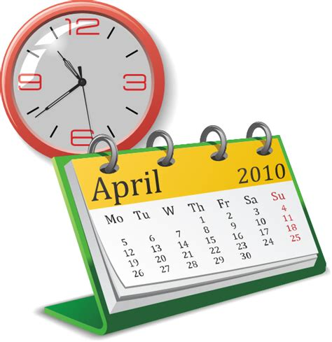 Date And Time Calendar Clock And Calendar Clip At Clker Vector Clip