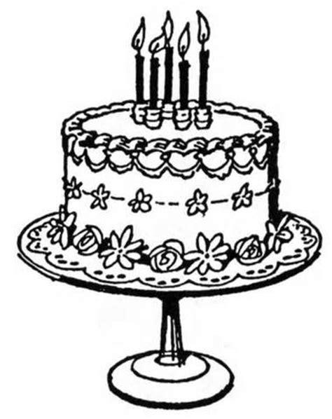 cake black and white birthday cake clip art black and