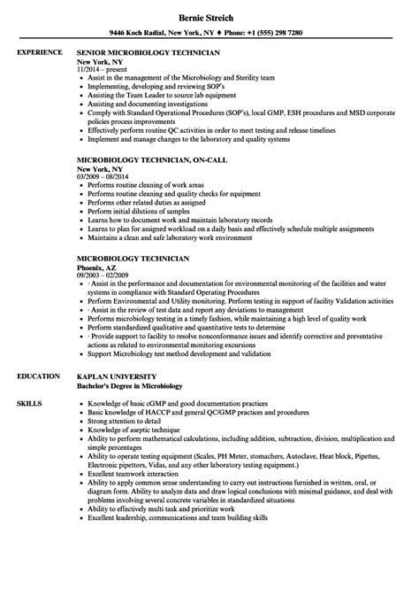microbiology lab technician resume sle microbiology technician resume sles velvet